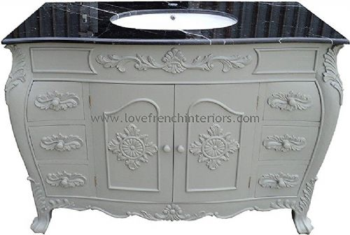 Bespoke Louis Sink Vanity Unit with Solid Marble Top